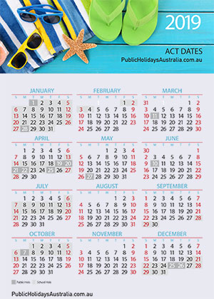 Act Calendar 2019 ACT Term School Dates & School Holidays 2019 * Download FREE Calendar